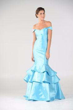 Elegant Satin Mermaid Bridesmaid dress POL#7944