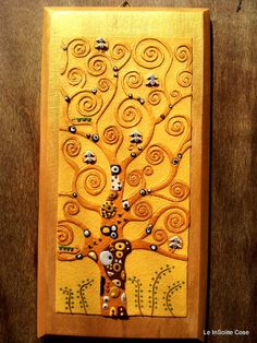 "Quadro ""Albero della Vita"" - Polymer Clay Wall Art ""The Tree of Life""  Inspired by Klimt"