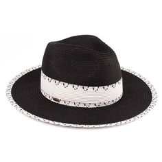 Summer Paper Straw Panama Hat With Confetti Band (ST-319)