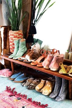 a nice display of Brother Vellies shoes.