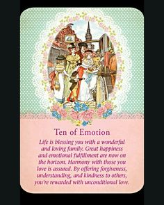 ~Ten of Emotion card from Guardian Angel Tarot Cards by Doreen Virtue and Radleigh Valentine~