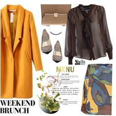 Brunch Time by ansev on Polyvore featuring polyvore fashion style MARCOBOLOGNA clothing shein Winter Skirt Outfit, Skirt Outfits, Winter Outfits, Polyvore Fashion, Brunch, Long Sleeve, Skirts, Collection, Shopping