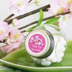 Personalized Mini Glass Candy Jars