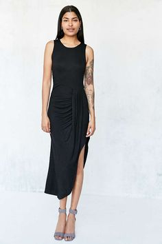 Silence + Noise Draped Side Knit Maxi Dress - Urban Outfitters