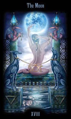 XVIII - La lune - Legacy of the Divine Tarot par Ciro Marchetti