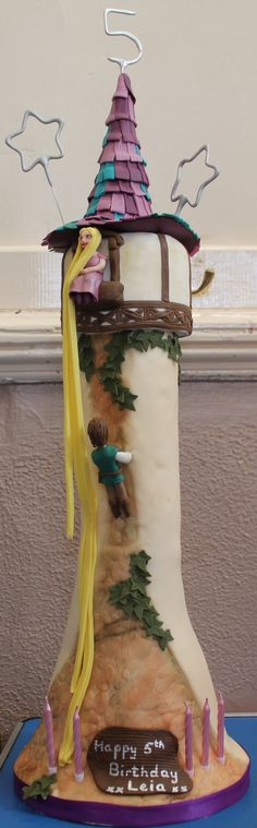 Tangled Cake - Rapunzels tower