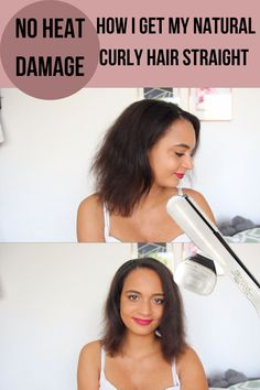 Hello, this is my first impression on the Loreal Steampod Straightener. In this video I'm not only unboxing my new flat iron I'm also testing the Loreal Steampod 2.0 Straightener for the first time. How well does it work on afro curly hair. Is it possible to straighten your hair without any heat damage? This is how I go from curly to straight hair.  I hope you enjoy. Curly To Straight Hair, Straight Hairstyles, Curly Hair Styles, Natural Hair Styles, Hair Without Heat, Heat Damage, Healthy Hair Tips, Hair Repair, Relaxed Hair