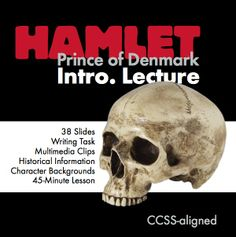 Grab every eye in the room with this gorgeous 38-slide Prezi that provides all of the background information your class will need as you launch your study of William Shakespeare's classic play, The Tragedy of Hamlet, Prince of Denmark.