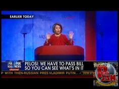 """I like this explanation. Lol! Is she serious? Pelosi: """"We Have to Pass the Bill So That You Can Find Out What Is In It."""" --Obamacare"""