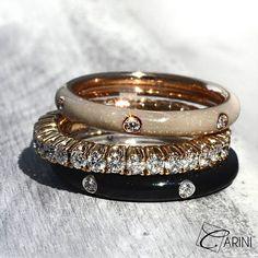 Fedine smaltate, interamente handmade in Italy, in grado di regale un tocco di stile e illuminare con originalità ogni outfits: dai più casual a quelli estremamente eleganti, abbinandosi perfettamente anche ad anelli più classici. Anelli Enamel ct 0.06 € 645 Eternelle ct 1.04 € 2.553 #carinigioielli #springsummer2017 #newcollection #italianjewelry #etsyseller #handmade #rings #gemstone #sparkle #jewelrygram #engagementring #jewelrydesign #inlove #wedding #luxurylifestyle #fashion #style…