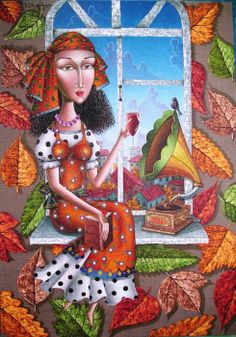 Pinzellades al món: Les il·lustracions de Zurab Martiashvili. i love his work. Georgia, Building Art, Colorful Paintings, Art Paintings, Naive Art, Color Of Life, Art Journal Pages, David, Art Forms