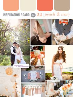Inspiration Board #22: Peach and Ivory | Elegance & Enchantment