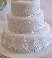 Love the detail on this wedding cake from: rosey sugar's photostream