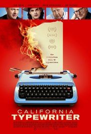 California Typewriter - Loved this documentary! California Typewriter is a story about people whose lives are connected by typewriters. The film is a meditation on creativity and technology featuring Tom Hanks, John Mayer, Sam Shepard, David McCullough and others.