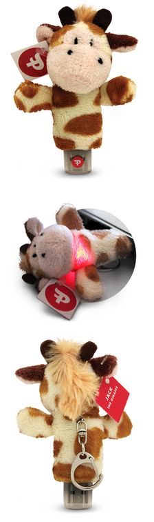 Super cute animal USB flash drives with hearts that light up!