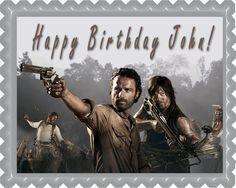 The Walking Dead 1 Edible Birthday Cake Topper OR Cupcake Topper, Decor