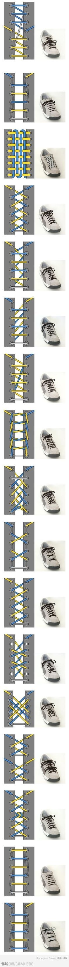 17 Ways To Tie Your Shoelace @adam rogers perhaps shoelaces are underrated bc you're not doing this!!