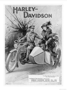 Side-car Harley Davidson~ I would love to road trip in side-car!