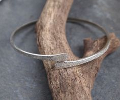 """""""SALE"""" Forged Silver Bangle, Solid Silver Bangle, handmade jewellery"""