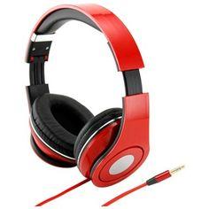 Red Adjustable Circumaural Over-Ear Earphone Stero Headphone 3.5mm for iPod MP3 MP4 PC iPhone Mu