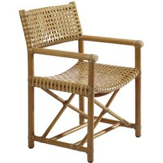 McGuire Furniture: Laced Rawhide Arm Chair