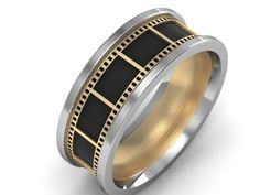 Custom Made Film Strip Gold And Silver Ring by Paul Bierker