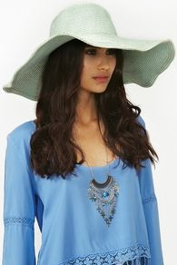 Metallic Straw Hat