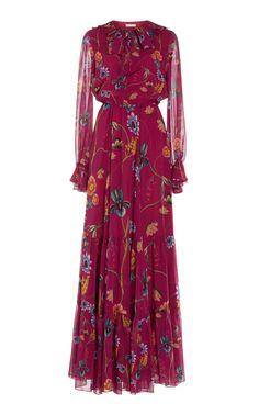 Borgo De Nor Anna Silk-Georgette Tiered Maxi Dress Vestidos Chiffon, Dress Vestidos, Modest Fashion, Girl Fashion, Fashion Dresses, Floral Fashion, Dress Patterns Uk, Anna Dress, Tea Length Dresses