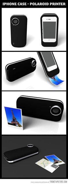 iPhone case Polaroid printer