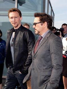 Tom Hiddleston, Robert Downey Jr.