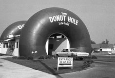 The Donut Hole drive through coffee shop in Los Angeles, CA - 1970