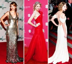 Taylor Swift. 3 different looks. Always workin it on the red carpet!