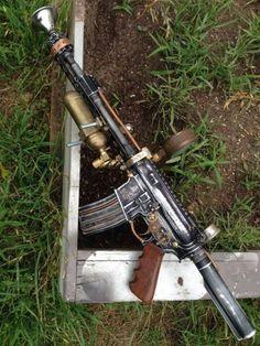 Steampunk AR-15 | Hmmm... I think I like it