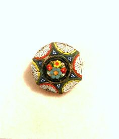 Vintage Brooch Italian Glass Mini Mosaic by happenstanceNwhimsy, $18.00