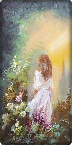Painting People, Woman Painting, Paintings I Love, Beautiful Paintings, Angel Sketch, Canvas Painting Tutorials, Lesbian Art, Impressionist Art, Arte Floral