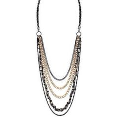 Courtney necklace by Guy & Eva. A mix of different metals and a layered look will definitely make any outfit stand out. A must have piece for any fashionistas wardrobe.