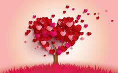 Heart Balloon Love Wallpaper HD Download Of Red Hearts