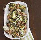 Roasted Brussels Sprouts with Wild Mushrooms and Cream