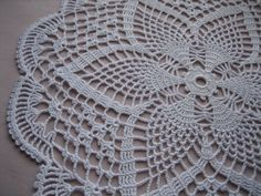 Here is the doily that I just completed crocheting. It is white, round and very nice looking, just in time for Holiday season It is 15 inches, just ironed. I used size 10 white thread Ready to bring new look to your home Thanks for looking, please see my other listings