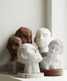 minimalist modern art sculpture home decor Skandinavisch Modern, Sculptures Céramiques, Sculpture Clay, Modern Art Sculpture, Geometric Sculpture, Sculpture Ideas, Abstract Sculpture, Ideias Diy, Ceramic Art