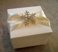 Sparkling Crystal Snowflake Decorated Gift by QuillsWeddingFavours, £6.99