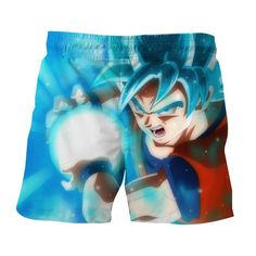 335a78a0da Dragon Ball DBZ Goku Super Saiyan God Blue Powerful Cool Shorts #dbz # dragonball #. Saiyan Stuff