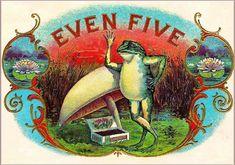 The Owl Bird Smoke Vintage Cigar Tobacco Box Crate Label Art Print