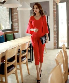 Aliexpress.com : Buy Original New 2016 Brand Overalls Plus Size Slim Elegant Fashion Red Women Chiffon Cloak Office Jumpsuits Summer Wholesale from Reliable summer cream suppliers on Original Brand Clothes Trade Co.,Ltd
