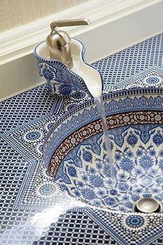 Beautiful Polish porcelain sink.  |  The Embellishment on Tumblr
