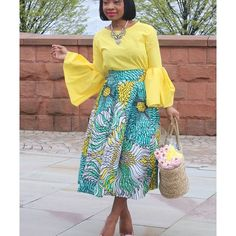 The Beatiful Dami of @edaowofashion is spring ready in our Marissa midi skirt. Don't you just love how she styled it?  -  This particular print is sold out but we have many other beautiful prints available in this style so drop by www.ankarahouse.co.uk to get yours now.  -  -  -  #Spring #Style #love #midiskirt #Ankara #Africanprint #AllthingsAnkara #fashionblogger #womensfashion #cute #skirt #glam #swag #slay #queens #retail #lotd #asoebi #Ankarafashion #ankarastyles #blogger #Ankarahouse
