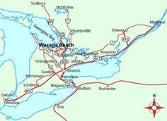 Directions to Wasaga Beach, Ontario