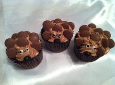 Cute hedgehog cupcakes