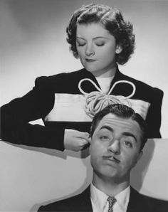 """William Powell and Myrna Loy, from """"The Thin Man"""", movies."""
