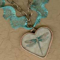 One of my favorites - Our Patera Butterfly Necklace Kit with Italian Mesh Ribbon Vintaj Chain!